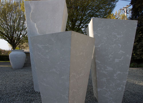 rectilinear concrete pots