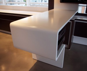 amazing white concrete counter