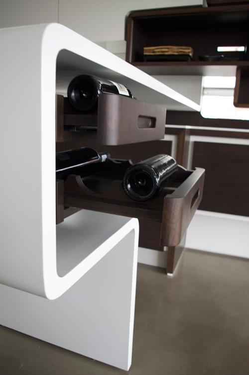 concrete wine tray