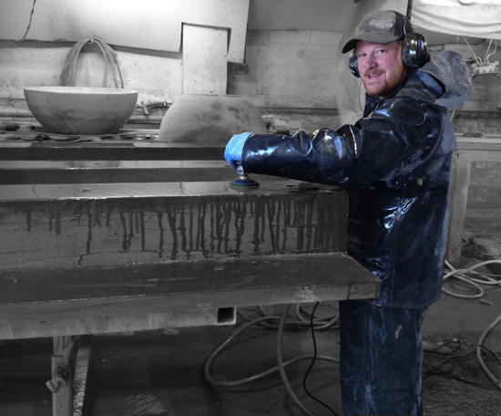 "concrete wet polishing with 5"" makita"
