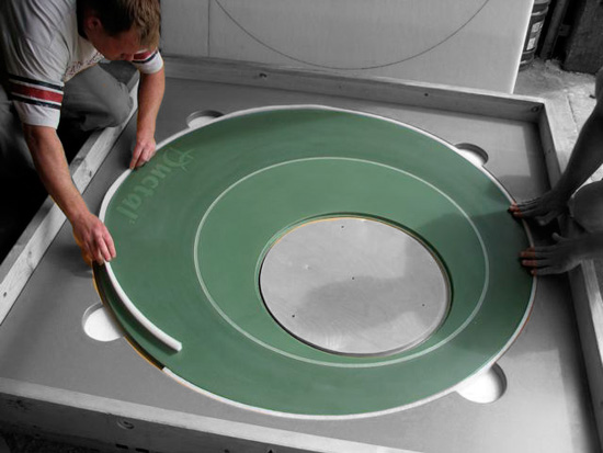 green ductal uhpc table