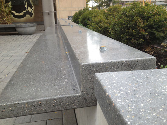 Bolt on polished benches