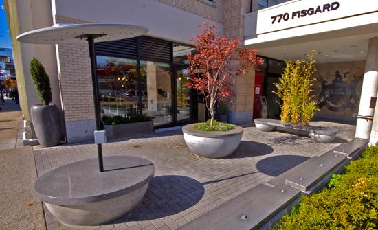precast landscape furniture