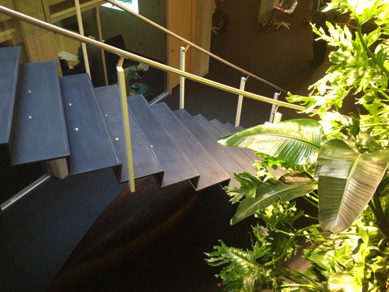 floating concrete stair treads and riser